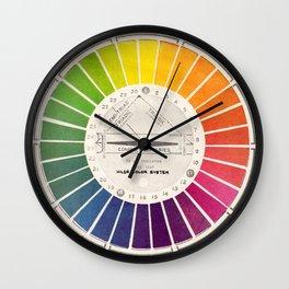 Vintage Color Wheel Art Teaching Tool Rainbow Mood Chart Wall Clock