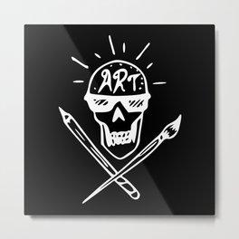Art Skull Metal Print