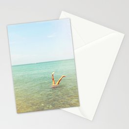 Turquoise Handstand Stationery Cards