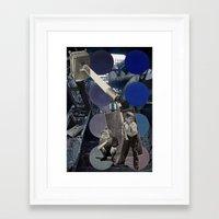 dark side of the moon Framed Art Prints featuring Dark Side of the Moon by Ira Carter