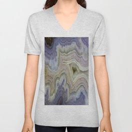 Royal Aztec Lace Agate Unisex V-Neck