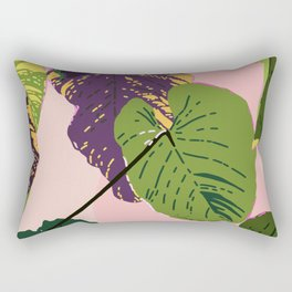 View from Backstage - Tropical Jungle Illustration Rectangular Pillow