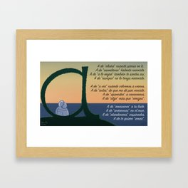 A de Amar Framed Art Print