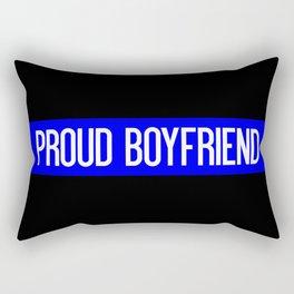 Police: Proud Boyfriend (Thin Blue Line) Rectangular Pillow