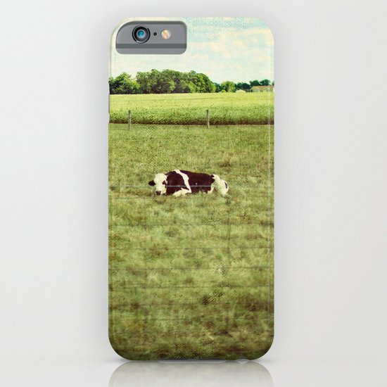resting cow iPhone & iPod Case