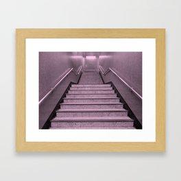 Tube Stairs Framed Art Print