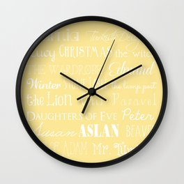 Narnia Celebration- shortbread Wall Clock