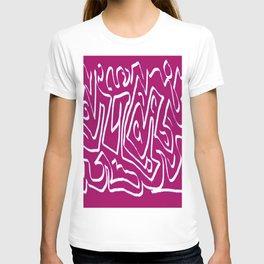 Laberinto violet white T-shirt