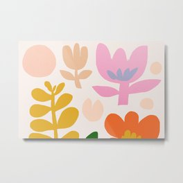 Abstraction_Floral_Minimalism_001 Metal Print