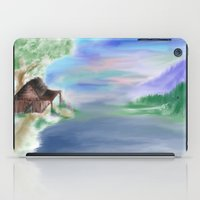 cabin iPad Cases featuring Peaceful Cabin by Christina Dugger