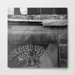 Golden Eagle BW Metal Print