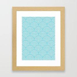 Scales - Light Blue & White #984 Framed Art Print