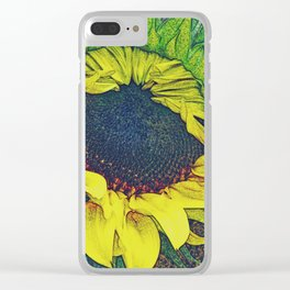 Sunflowers Inside Clear iPhone Case