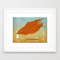 redhead Framed Art Prints featuring Redhead by Mild Visualitis