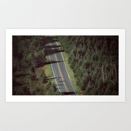 Mt. Mitchell Bike Ride Art Print