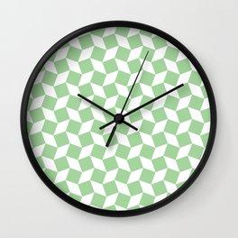 Mint Op Art Pattern Wall Clock