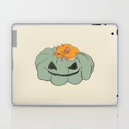 Little bat on a pumpkin Laptop & iPad Skin