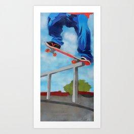 Rail grind Art Print