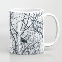 pigeon Mugs featuring pigeon by Lama BOO