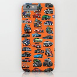 American Hot Rods, Muscle Cars, Street Rods, Pickup Trucks and Motorcycle Cartoons iPhone Case