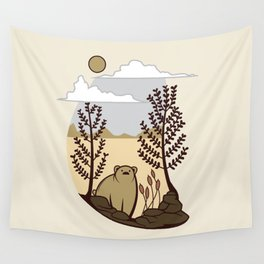 Cute Bear in the Forest Wall Tapestry