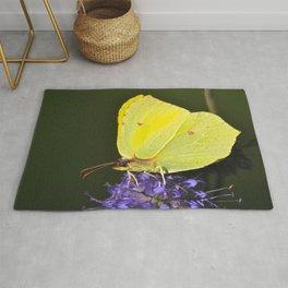Yellow Butterfly On Purple Flower #decor #society6 #buyart Rug