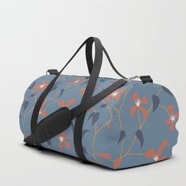 Floral Clematis Vine - Indigo Sunset Duffle Bag