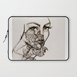 Woman, peonies and rebirth Laptop Sleeve