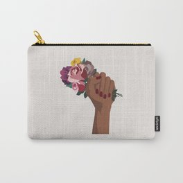 Girl Power with flowers Carry-All Pouch