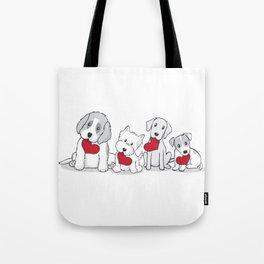 Valentine's Day Dogs Tote Bag