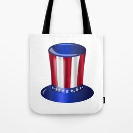 Uncle Sam Flag Hat Tote Bag
