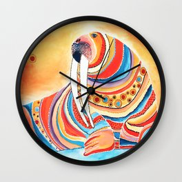 Tiger Of The North Wall Clock