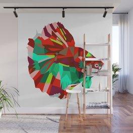 Betta fish Geometric artwork Wall Mural