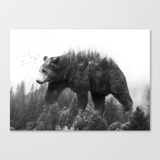 Walking trough the forest Canvas Print