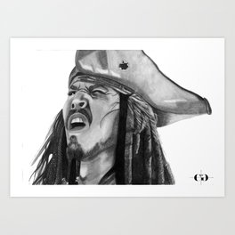Jack Sparrow - I Wash My Hands Of This Weirdness Art Print