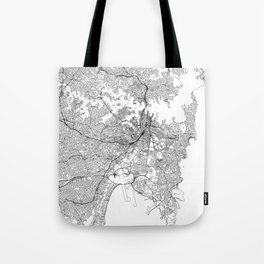 Sydney White Map Tote Bag