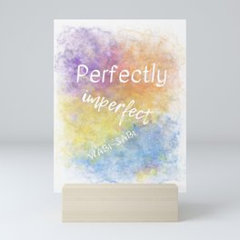 Perfectly Imperfect - Wabi-Sabi (white, blue, orange, yellow, purple) Mini Art Print