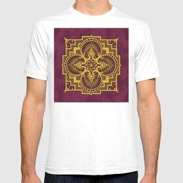omjárah gold gallery mandala T-shirt