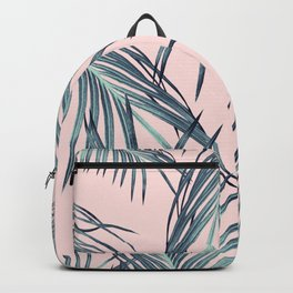 Blush Palm Leaves Dream #1 #tropical #decor #art #society6 Backpack