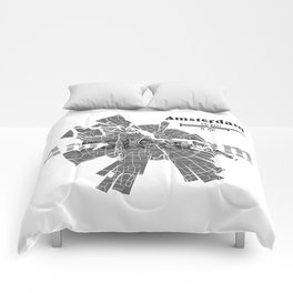 Amsterdam Map Comforters