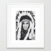 navajo Framed Art Prints featuring Navajo by Jamie de Leeuw