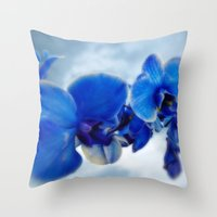 orchid Throw Pillows featuring Orchid by Saundra Myles