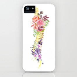 Floral Spine Anatomy  iPhone Case