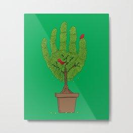 A bird in hand Metal Print
