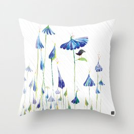 BLUE IS THE RAINIEST COLOR Throw Pillow