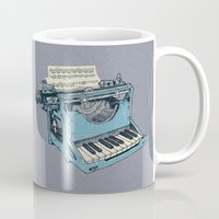 poetry Mugs featuring The Composition. by Matt Leyen