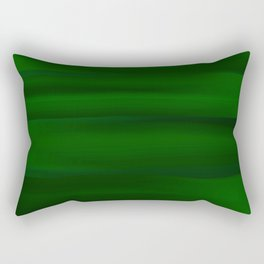 Emerald Green and Black Abstract Rectangular Pillow