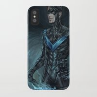 nightwing iPhone & iPod Cases featuring Nightwing by Veradia