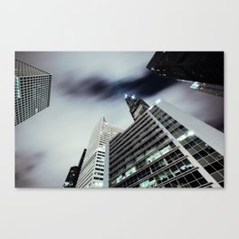 Cityscape I - Contemporary Skyscrapers Minimal Modern Studio Office Art Print Chicago Canvas Print