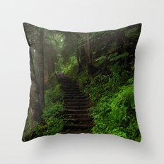 stairway. Throw Pillow